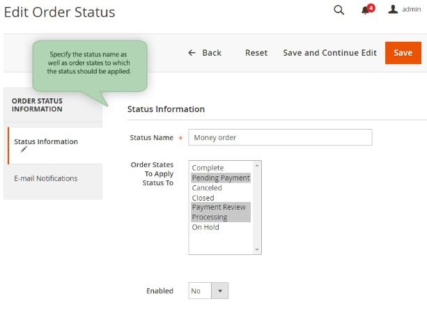 Magento 2 Custom Order Status