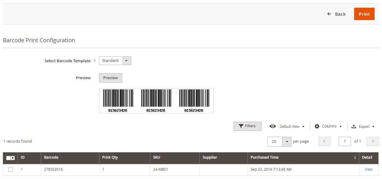 Magestore Barcode Management Magento 2 Module