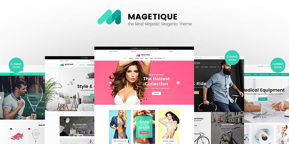 Magetique Magento 2 Template; Magetique Magento 2 Theme