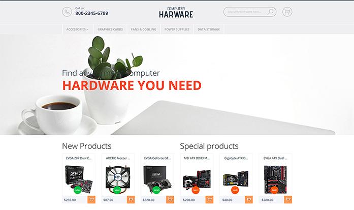 Computer Hardware Magento Theme