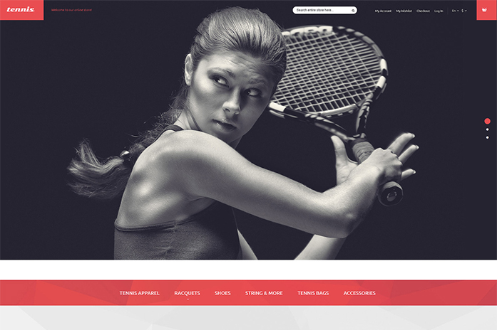 Tennis Equipment Magento Theme