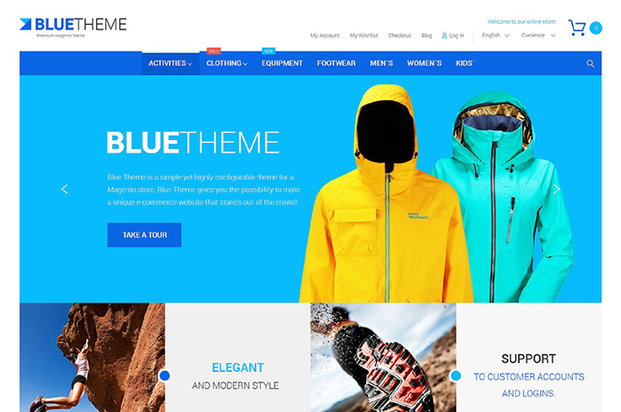 Blue Magento Theme