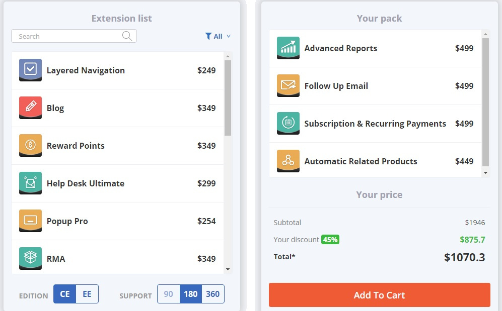 AheadWorks Magento 2 Pack Builder