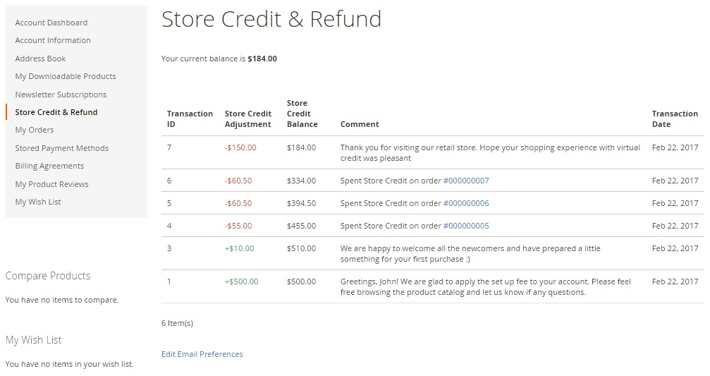 AheadWorks Store Credit Magento 2 Module; Magento 2 Extension