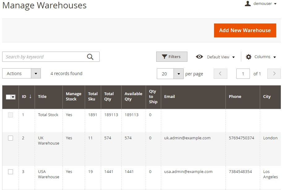 Amasty Multi Warehouse Inventory Magento 2 Extension