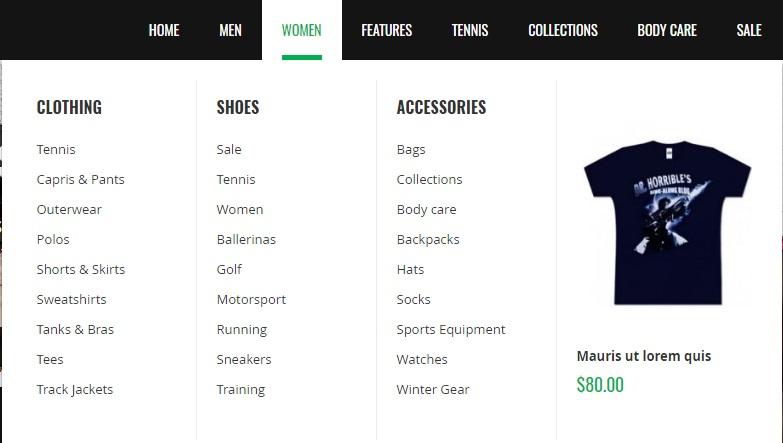 UB Sportsgear Magento 2 Theme Template