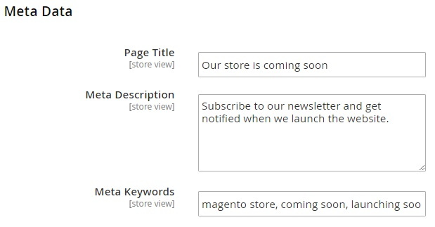 Coming Soon & Maintenance Page Magento 2 Extension Module