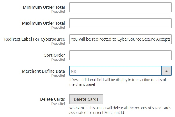 CyberSource Secure Acceptance Magento 2 payment gateway Extension