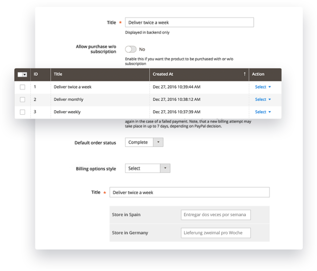 Subscriptions and Recurring Billing Magento 2 Extension Module