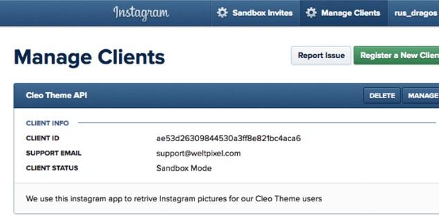 Weltpixel Instagram Widget Magento 2 Extension module