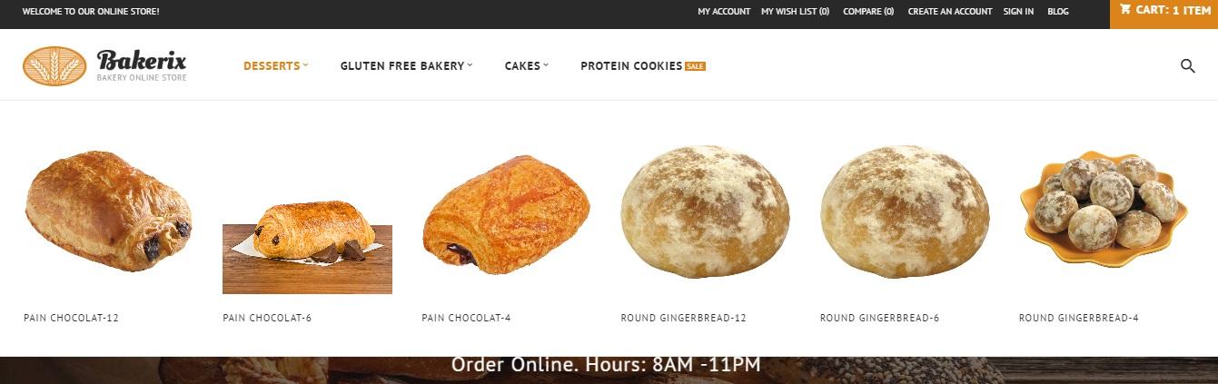 Magento 2 bakery shop theme