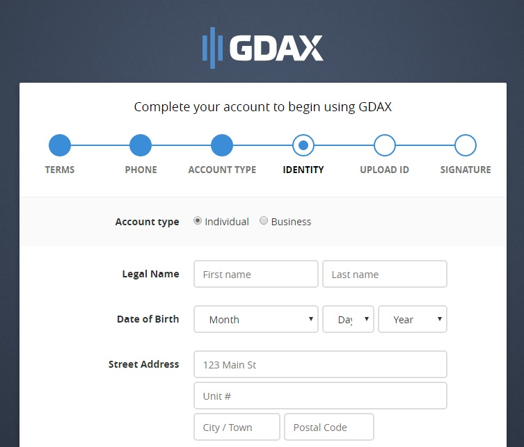 Buy Ethereum GDAX