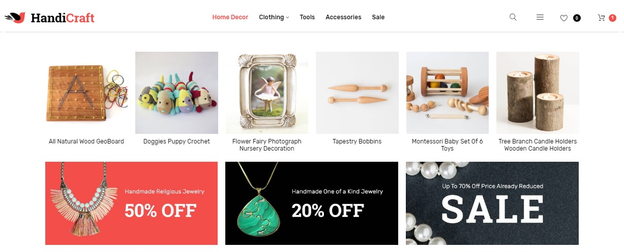 HandiCraft Magento 2 Handmade Goods Shop Theme