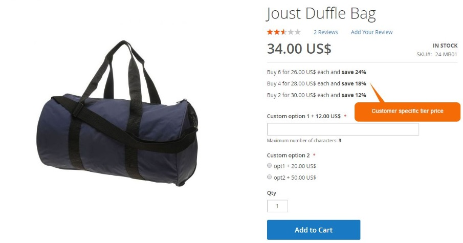 Price Per Customer Magento 2 Module