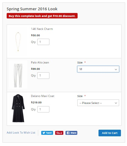 Magento 2 Shop By Look Extension