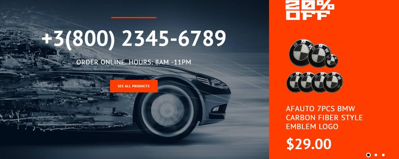 Magento 2 Car Services template
