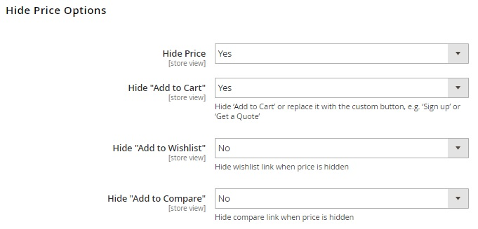 Magento 2 Hide Price Modules