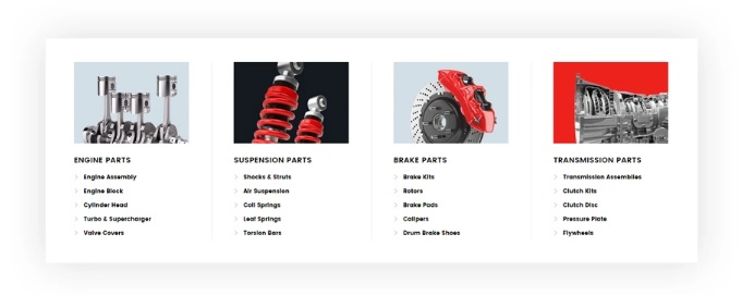 Car Spare Parts Magento 2 store