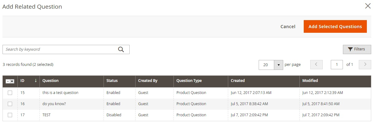 Magento 2 Product Questions & FAQ Extension