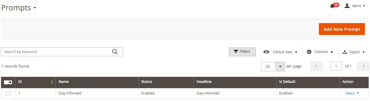 Magento 2 push notifications