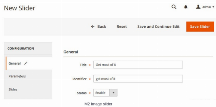 Magento 2 Image Slider Extension