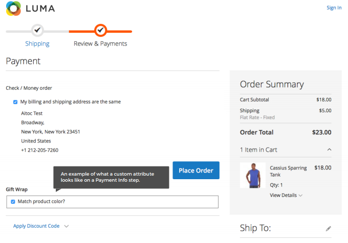 Magento 2 Checkout Fields Manager extension