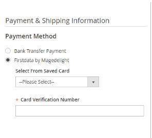 Magento 2 First Data Payment Gateway Integration