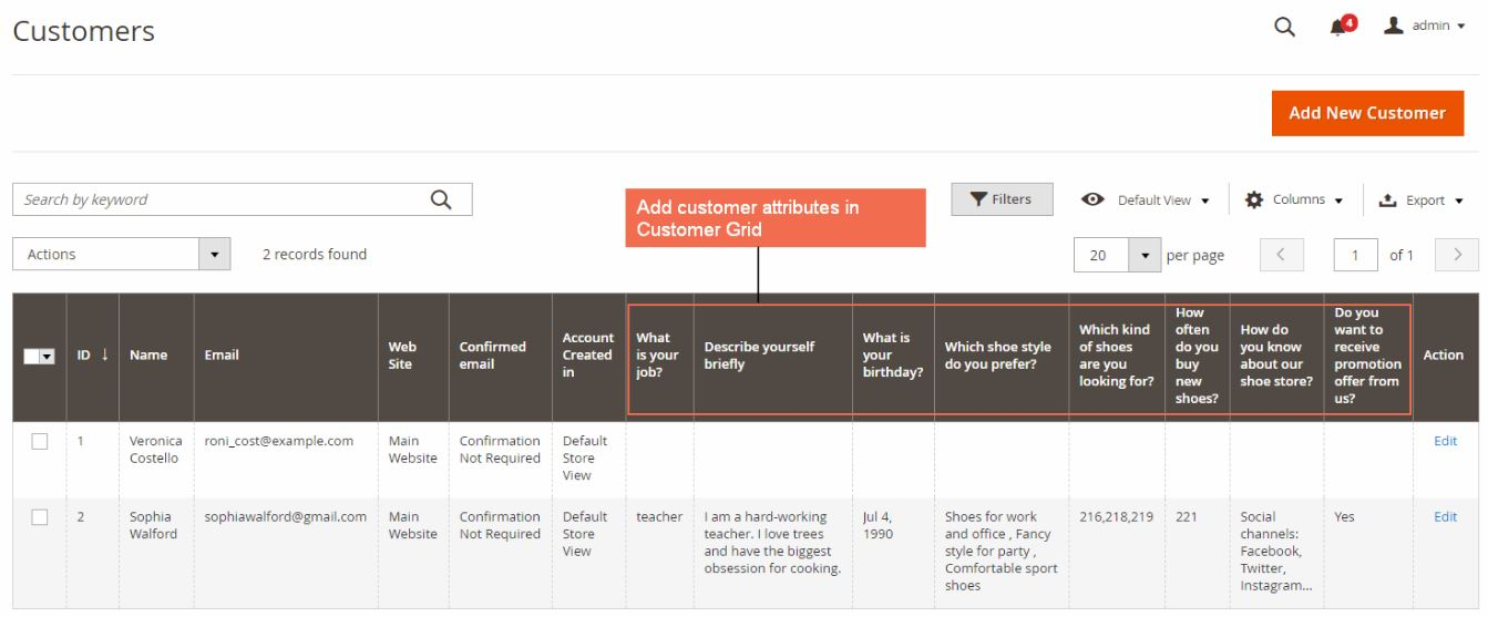 BSSCommerce Magento 2 Customer Attributes Extension