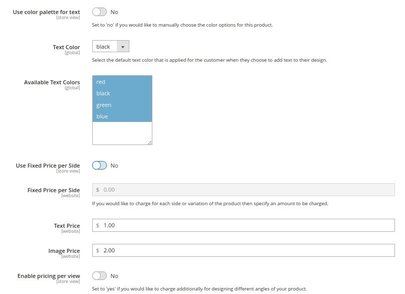 Magento 2 custom product design extension