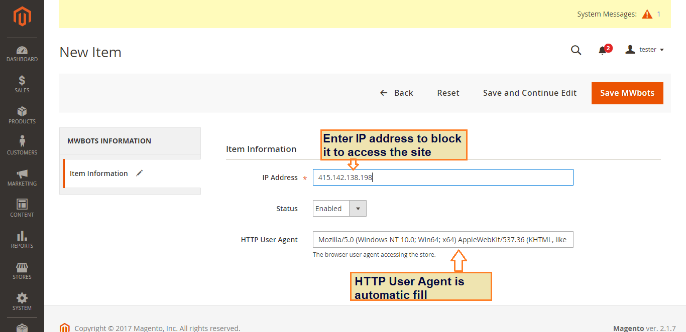 Magento 2 Spam and Bot Blocker extension