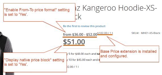 price range configurable product
