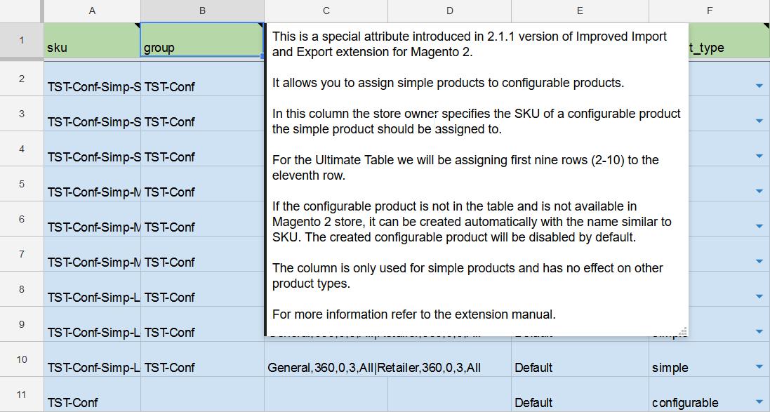 Magento 2 Google Docs Import