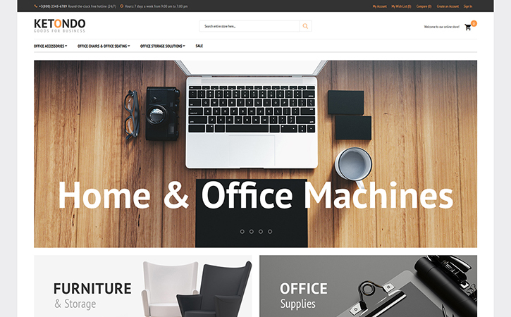 Ketondo - Office Supplies Magento 2 Theme