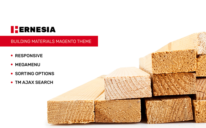 Hernesia - Building Materials Responsive Magento Theme