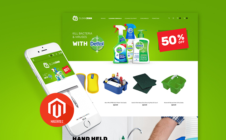 Cleaning Supplies Magento 2 Theme