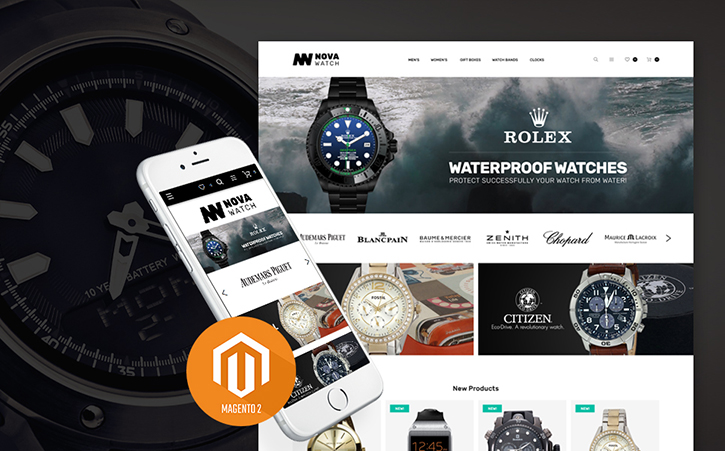 Brand Watches Magento 2 Theme