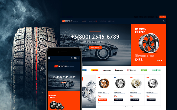 Motor - Car Services Magento Theme