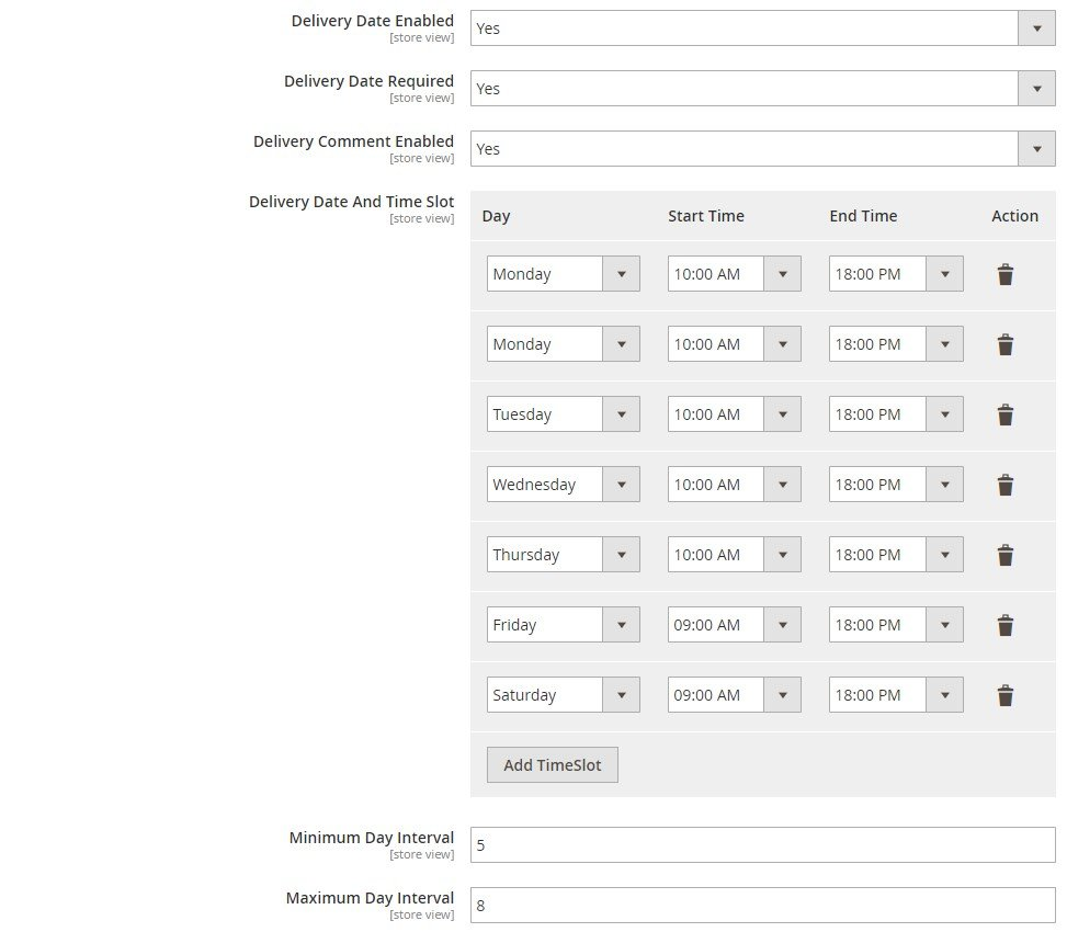 MageDelight One Step Checkout Magento 2 Module backend