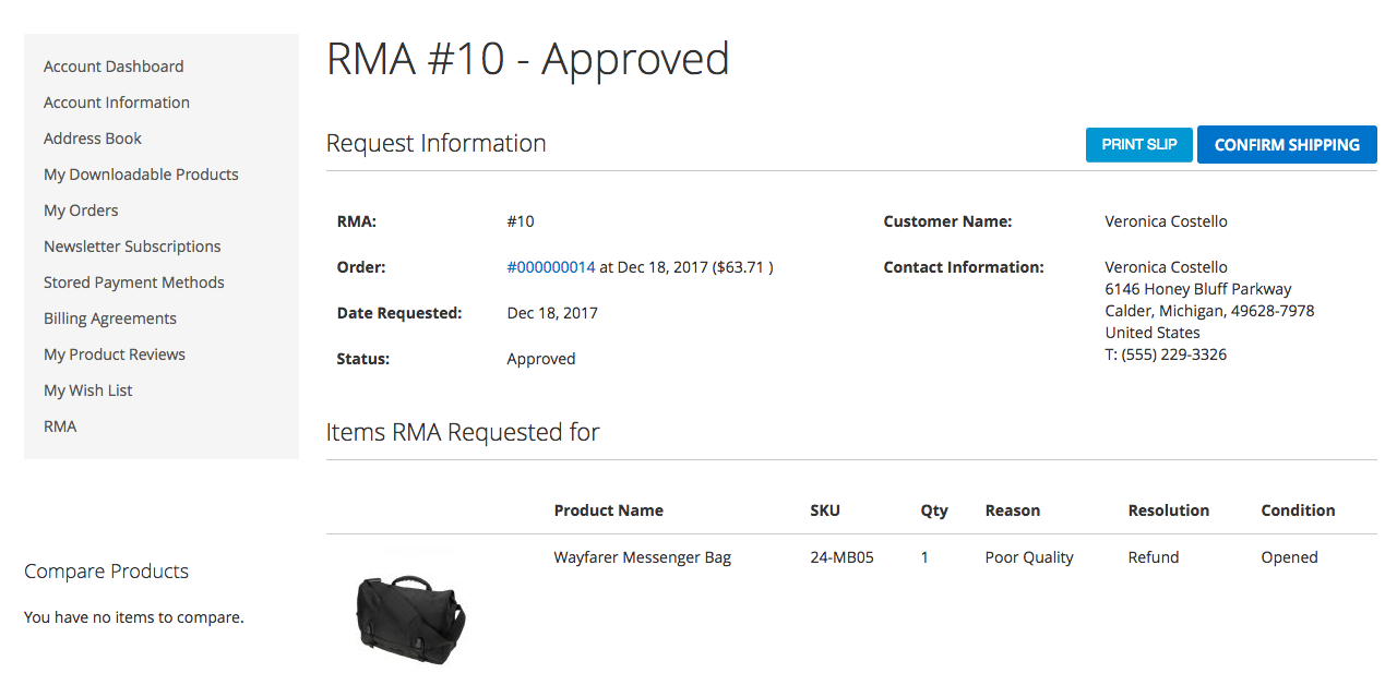 MageDelight Magento 2 RMA Extension