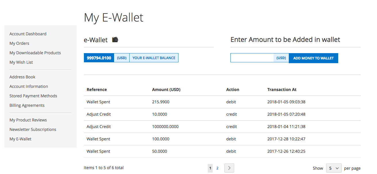 MageDelight Magento 2 eWallet Extension