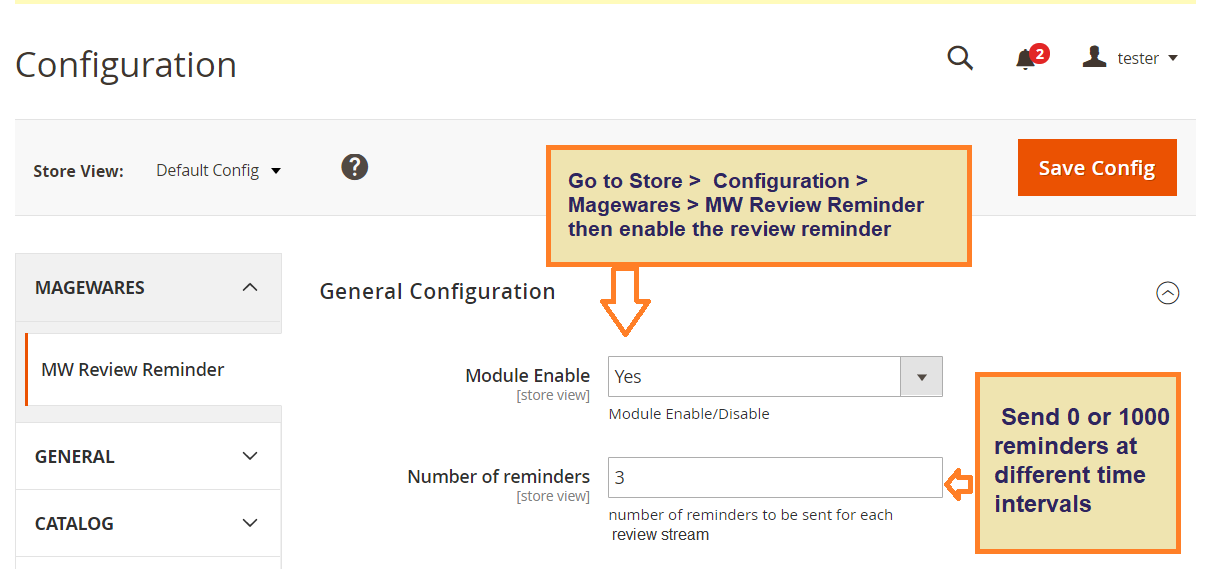 Magento 2 Review Reminder Module