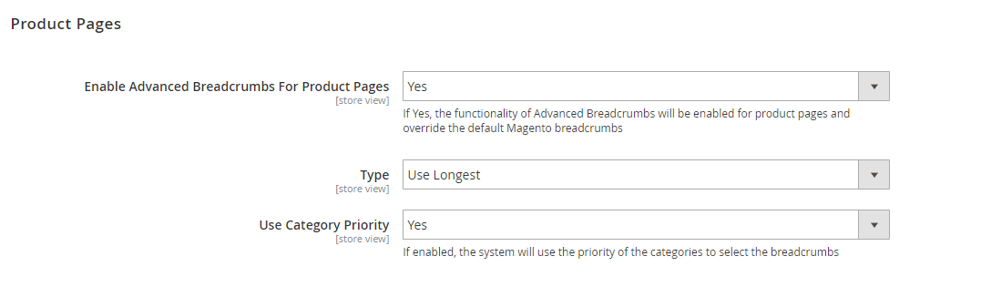 Magento 2 Breadcrumbs Extension