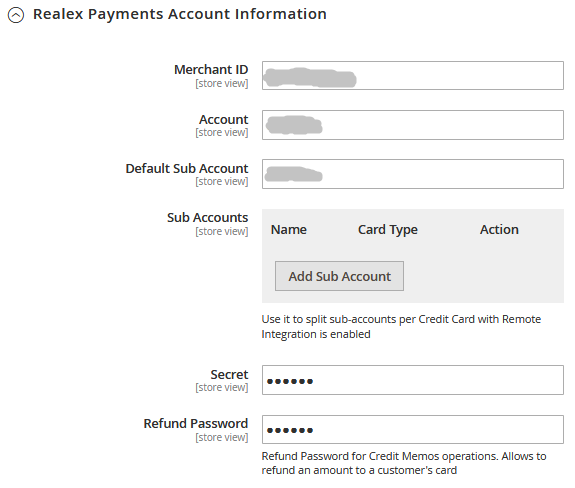 Magento 2 Realex Payments Extension