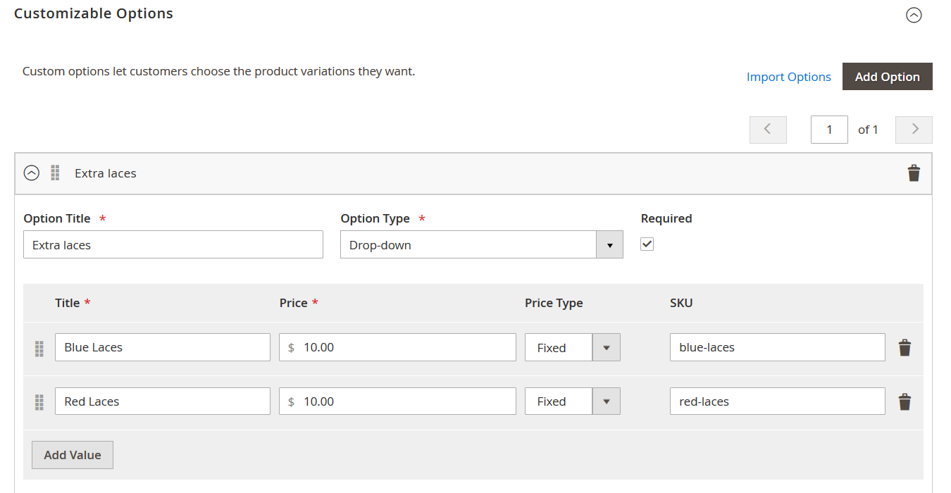 Add custom options to Magento 2 configurable products | FireBear