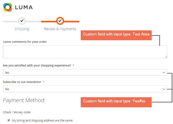 Magento 2 Checkout Custom Field Extension