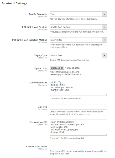 Magento 2 Product Page PDF Extension