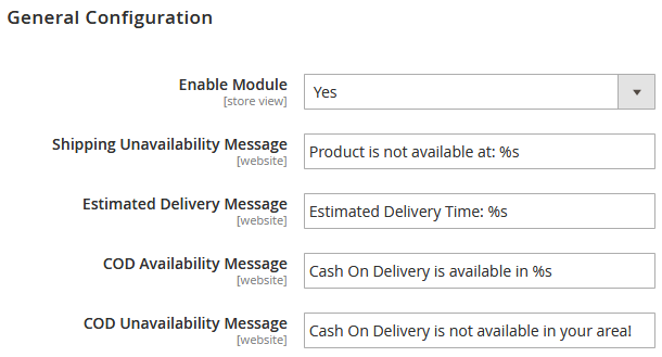 Magento 2 Delivery Availability Extension