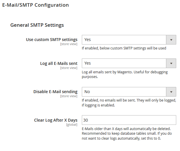 Magento 2 SMTP Settings Extension