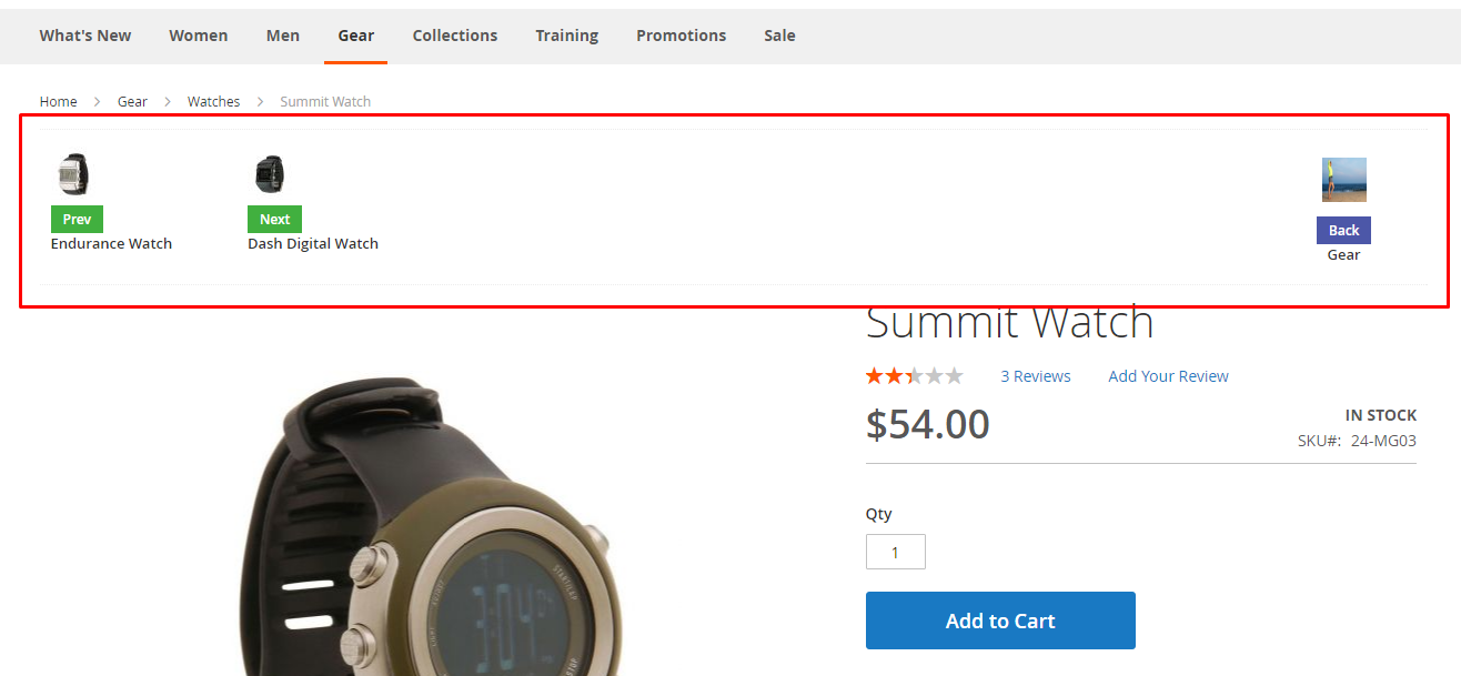 Magento 2 Product Navigation Extension
