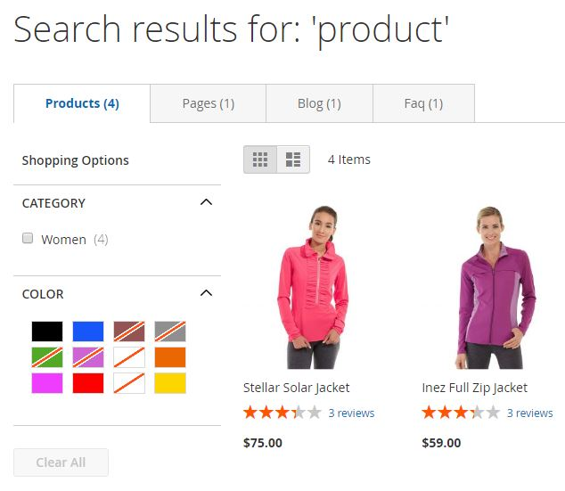 Magento 2 Advanced Search Extension by Aheadworks | FireBear